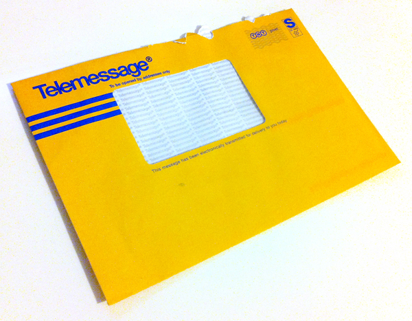 BT final demand envelope