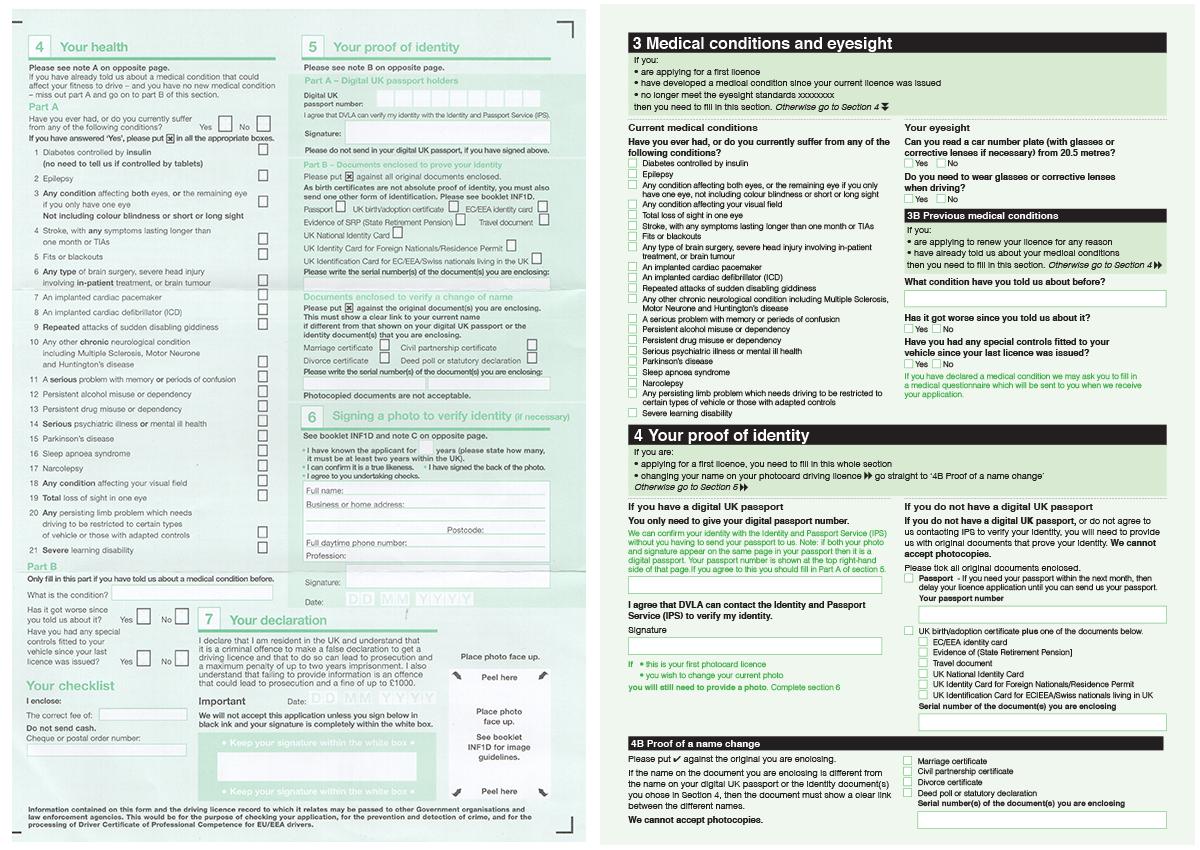 DVLA-form-v6-2 Order Form D From Dvla on social security administration forms, canada revenue agency forms, veterans administration forms,