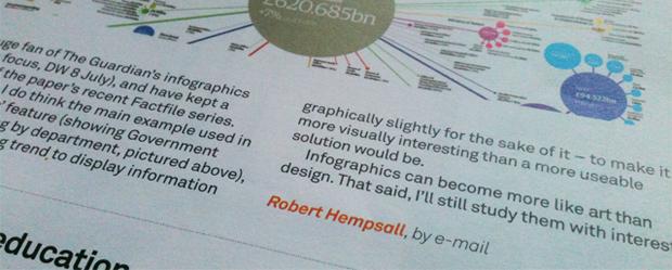 robert hempsall letter to design week about infographics
