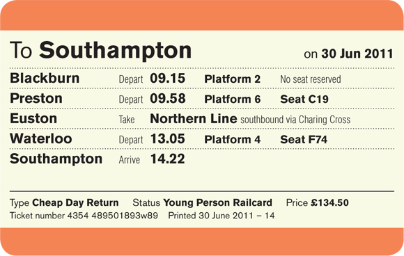 simplified uk train ticket design