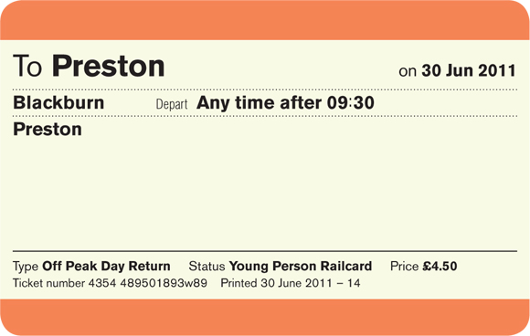 simplified uk train ticket design off peak