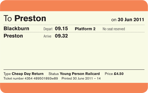 simplified uk train ticket design for fixed time