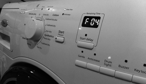 whirlpool drier F 04 Error Message