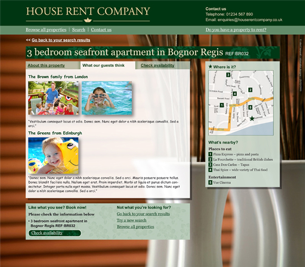 Rental Site: Luxury Home Rental Website
