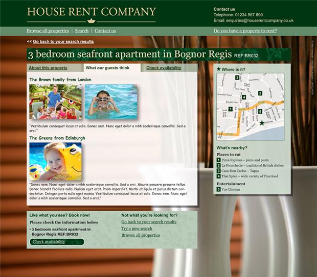 Rentals Websites: Luxury Home Rental Website