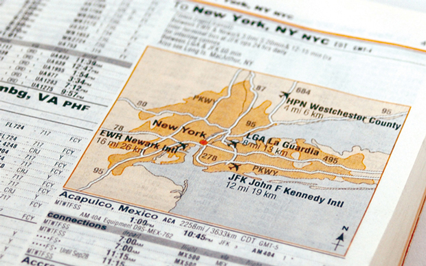 maps with information about city's different airports were included for cities with multiple=